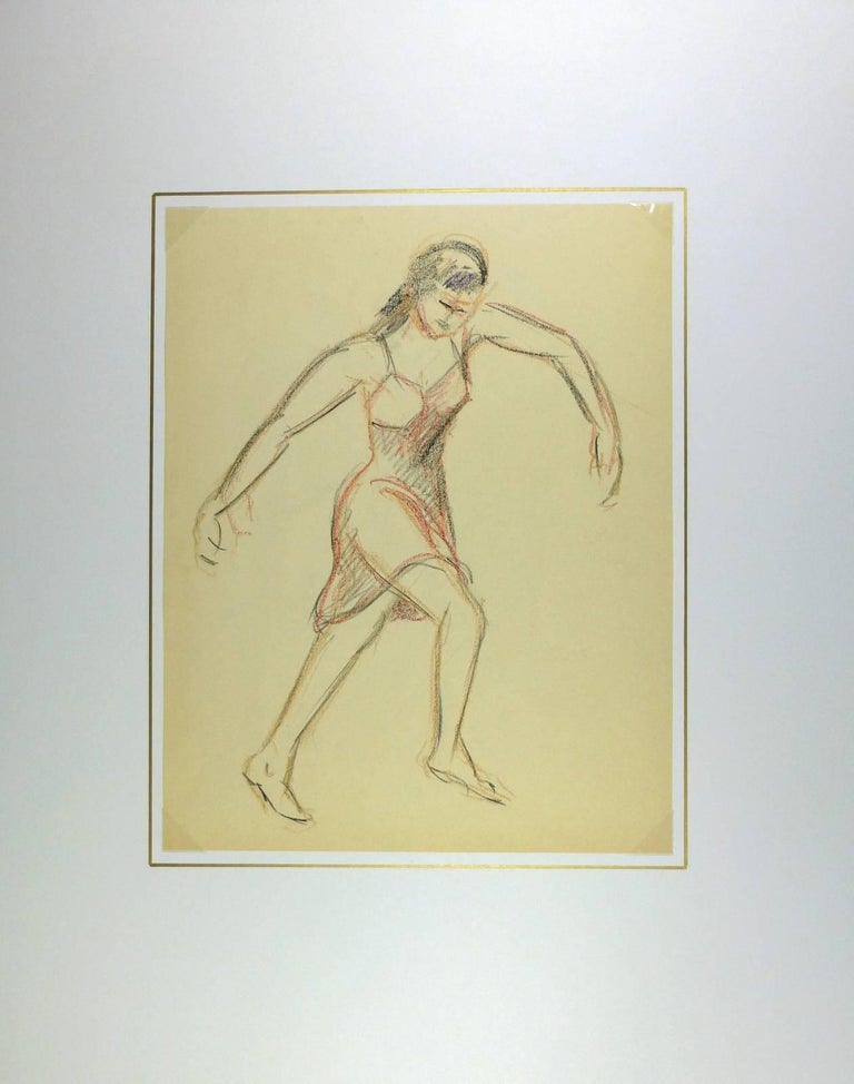 Female Figure in Charcoal - Art by A. Delamaire