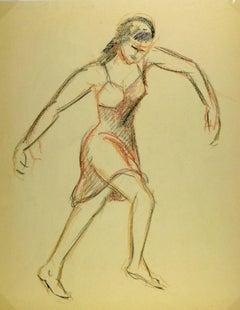 Female Figure in Charcoal
