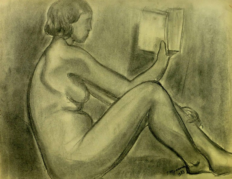 Nude Reading - Art by A. Delamaire