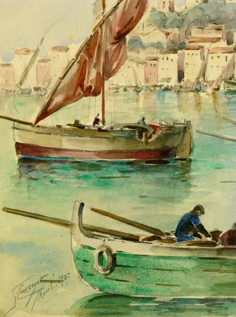 Bay of Cannes - Art by Gaston Coursaget