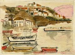 Sailboats in Bay