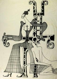 Modern Figures Lithograph