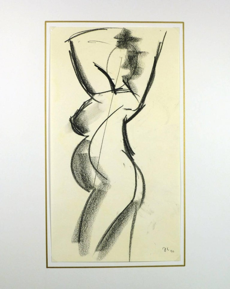 Pregnant Female Charcoal Nude For Sale 1