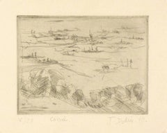 French Landscape Etching