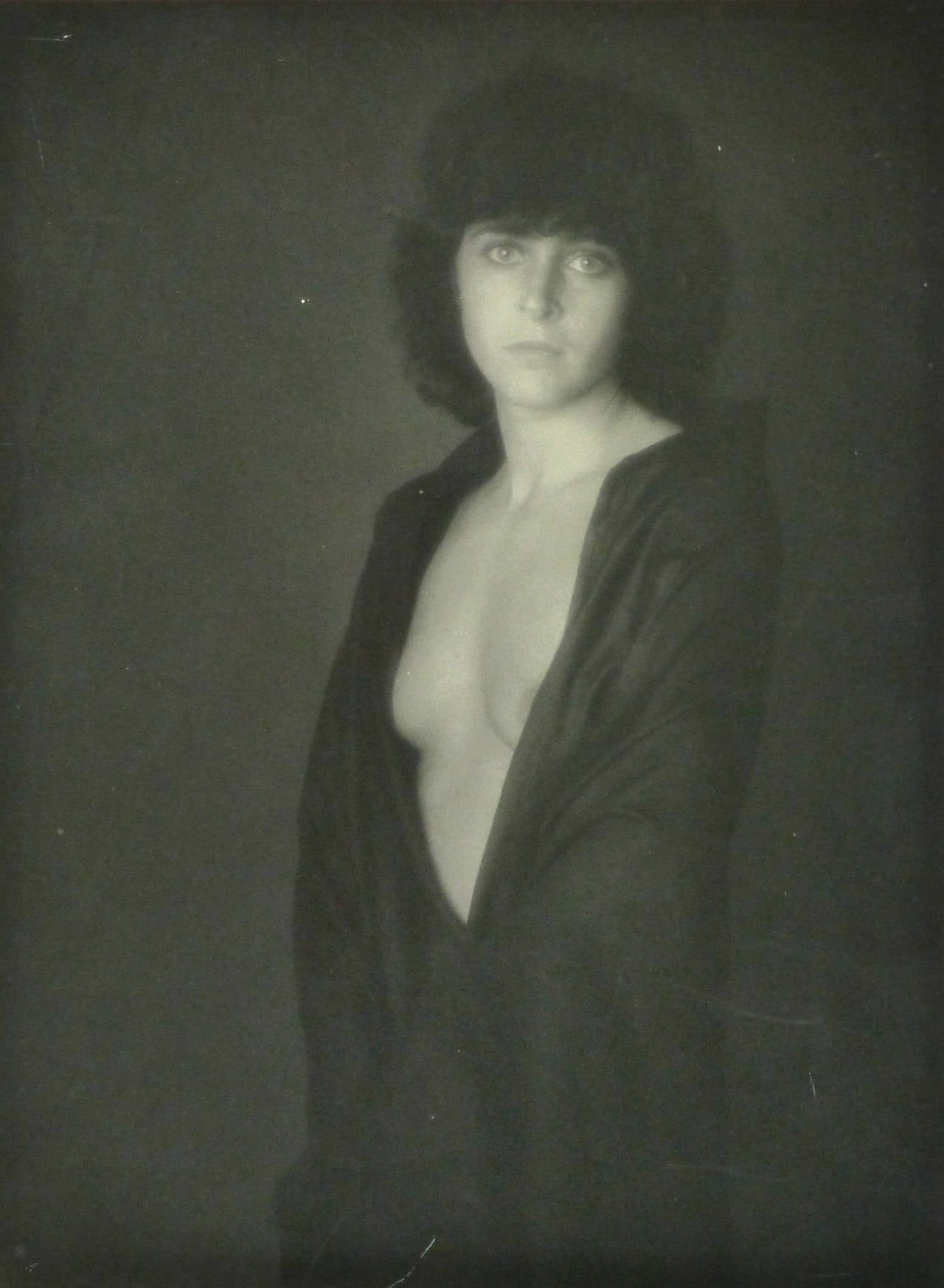 Vintage French Black and White Photograph - Dévêtue (Undressed)