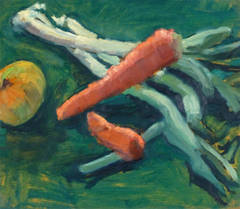 Vintage French Oil Painting - Vegetable Study
