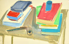 Vintage French Still-Life Painting - The Reader's Table