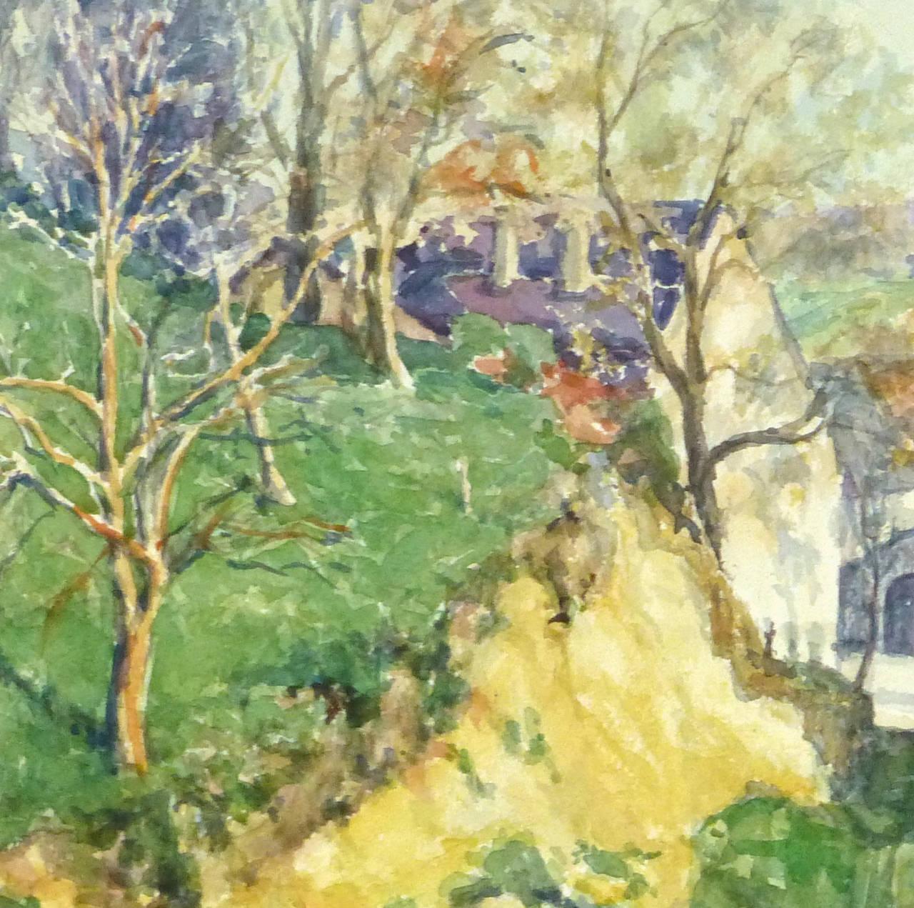 Wilhelm Kloden - Vintage Watercolor Landscape - The Back ...