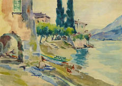 Vintage French Landscape - The Water's Edge