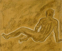 French Charcoal Sketch - Male Nude