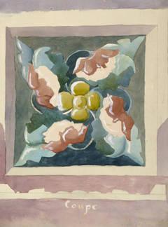 Vintage French Watercolor- Decorative Flourish