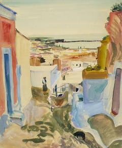 Vintage Spanish Watercolor Landscape - Almeria, Spain