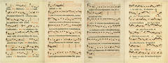Antique Music Sheets - Set of 4
