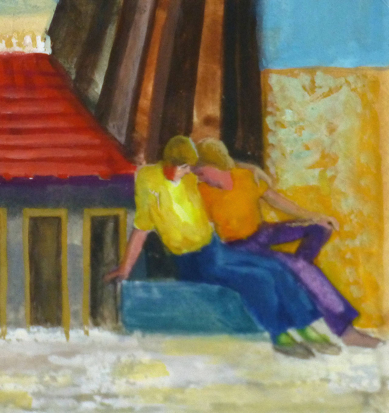 Hang Out - Painting by Elisabeth Hoffova