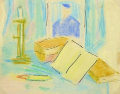 Vintage French Ink and Pastel  - Tablescape