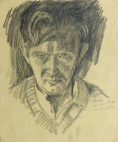 W. Langer - Vintage Pencil Portrait