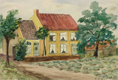 Vintage French Watercolor - Bruyère