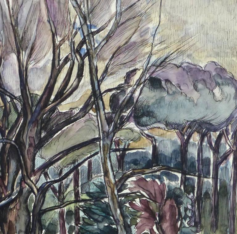 French Tree Landscape Painting - Other Art Style Art by Unknown