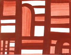 Red Colored Modern Abstract Painting - Partition