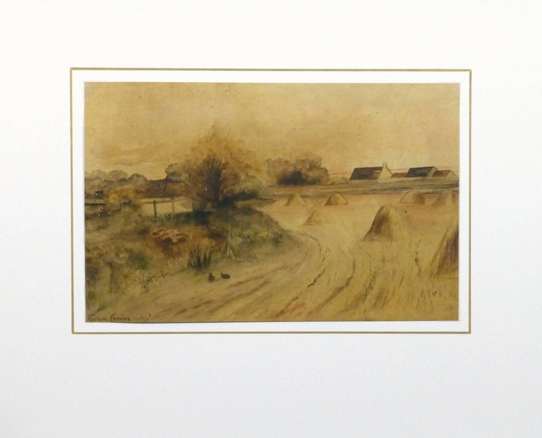 Low Country - Brown Landscape Art by Evelyn Coombe