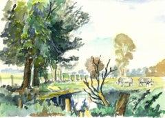 Pasture Watercolor
