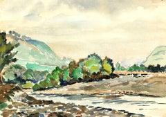 River Valley Watercolor