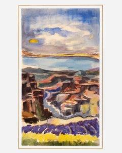 Gouache Landscape, C. 1950