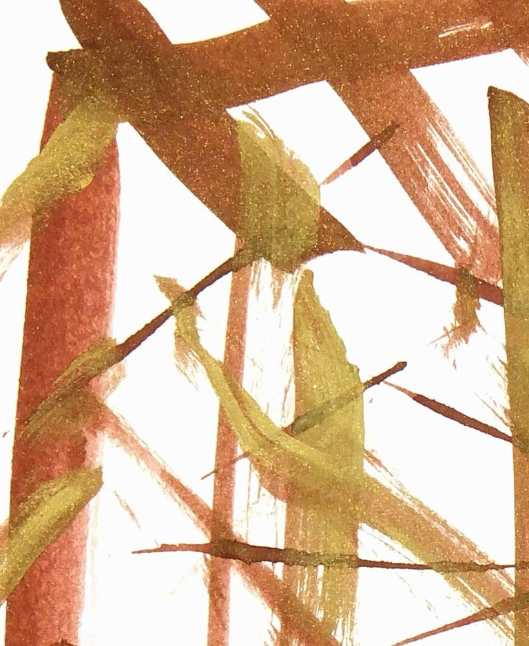 Abstract - Brown Abstract Drawing by Dante
