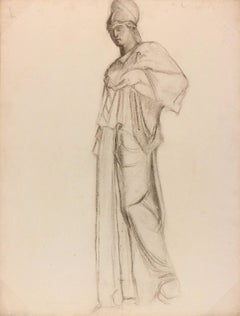 Charcoal Drawing of Athena, C. 1930