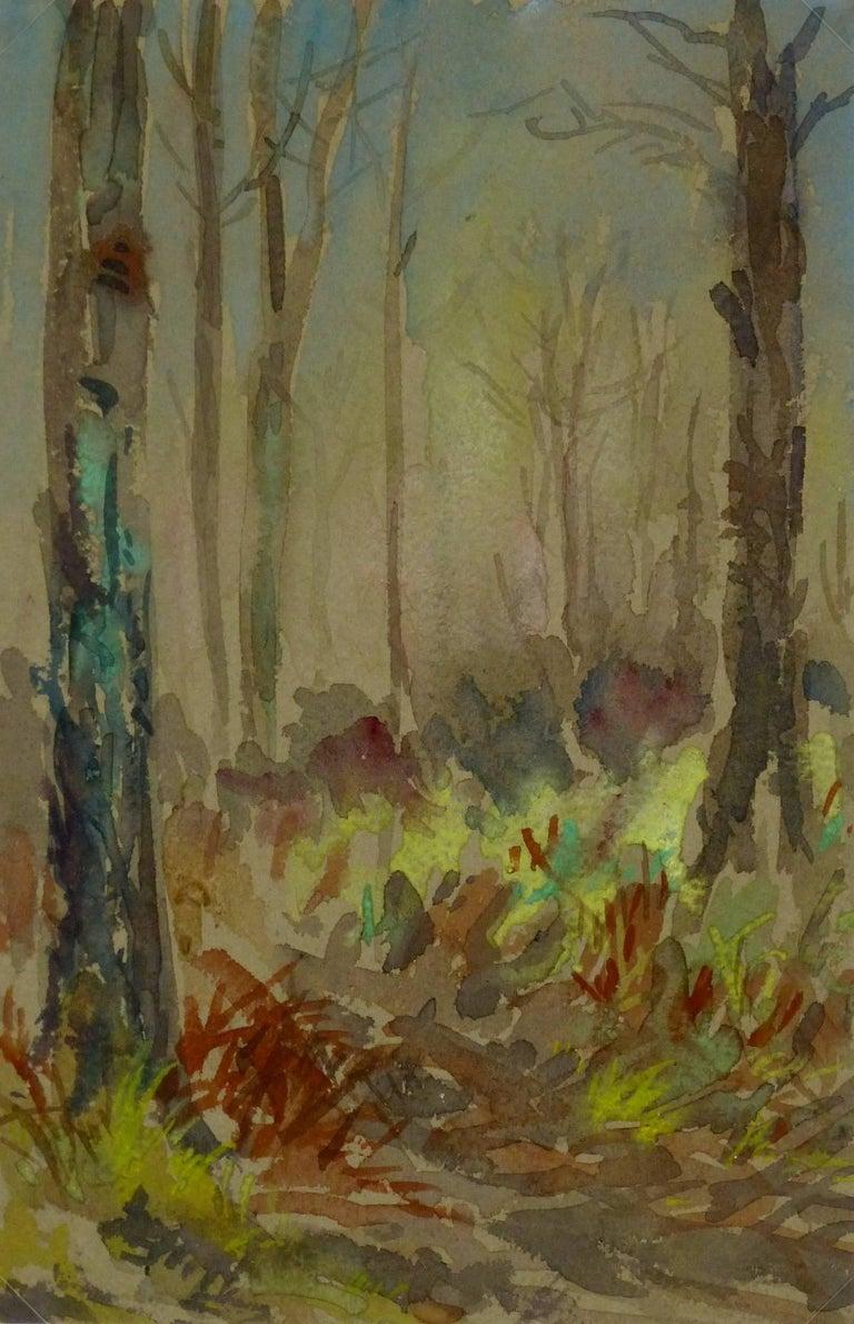 Unknown Landscape Art - Forest Watercolor Landscape