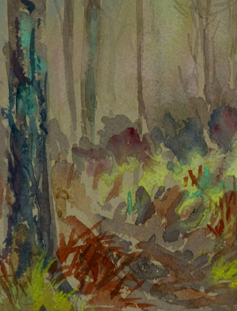 Forest Watercolor Landscape - Art by Unknown