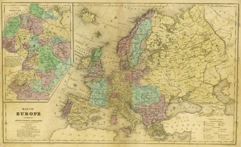 Map of Europe, 1844