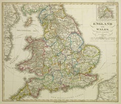 Map of England & Wales, 1850