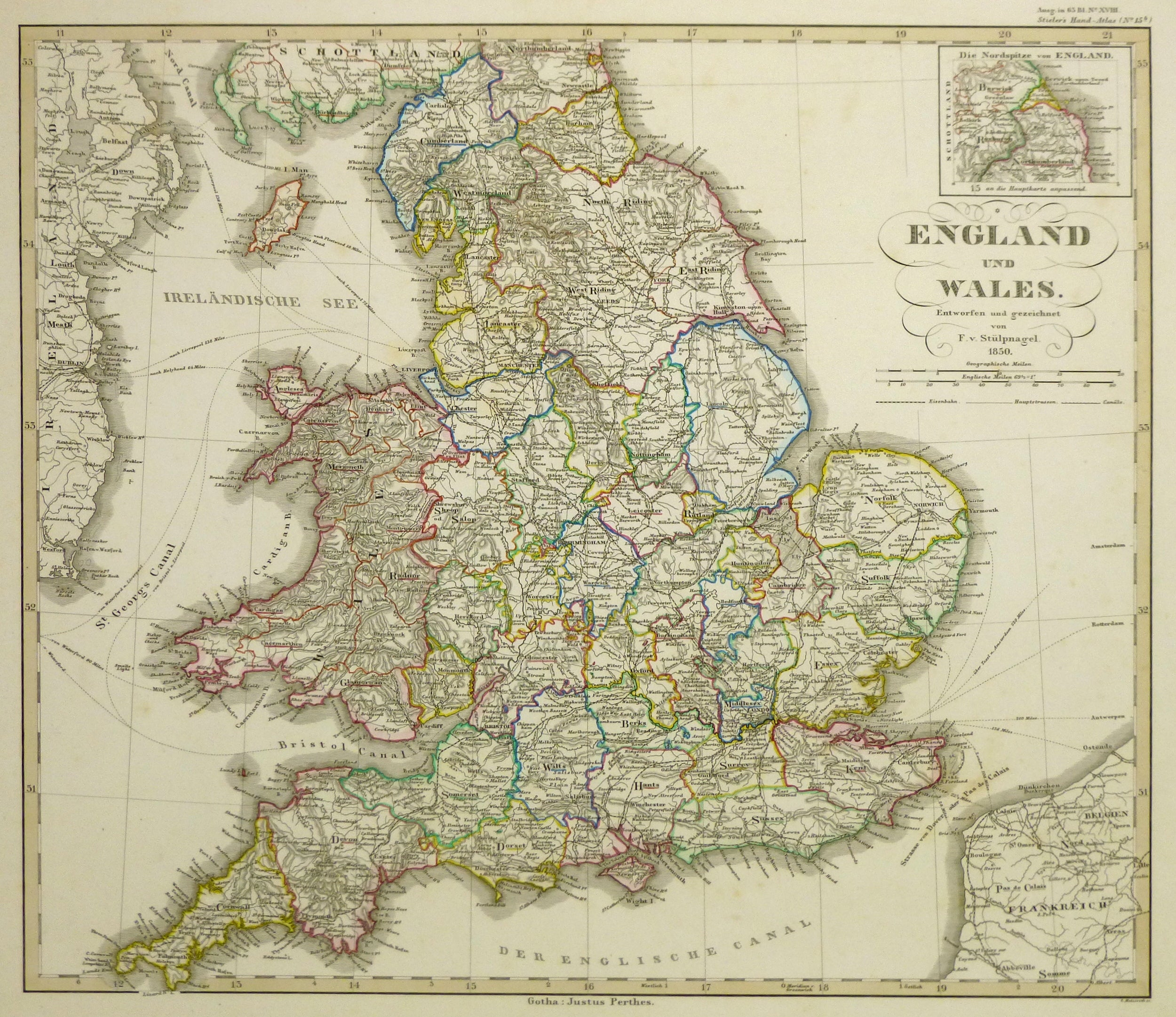 Show Map Of England.Map Of England Wales 1850