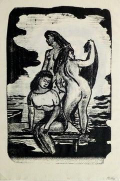 Three Nudes Bathing