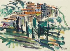 Vintage Italian Landscape Painting