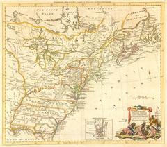 Antique British Map - American Revolution 1782