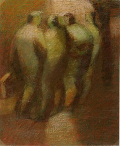 French Oil Painting - Four Figures