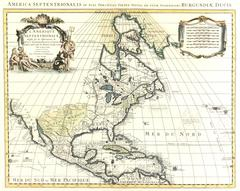 Antique Map North America