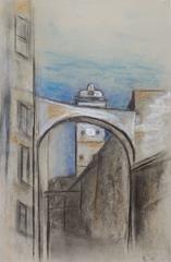 Vintage Charcoal Drawing - Tuscany