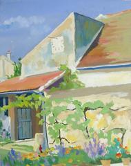 Vintage French Provence Landscape - Country Villa