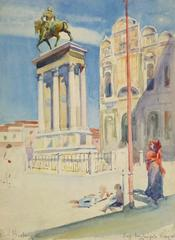Antique Watercolor Painting - Venice, Italy