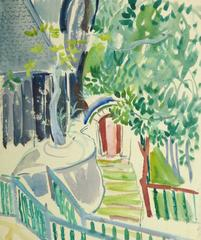 Vintage French Watercolor - The Entryway