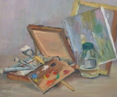 Vintage Oil Still Life - Artist's Palette