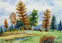 Vintage Watercolor Landscape - Argau