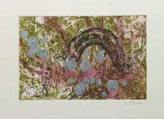 Abstract Aquatint Etching - Tunnel I