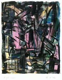 Abstract Painting - Port at Night