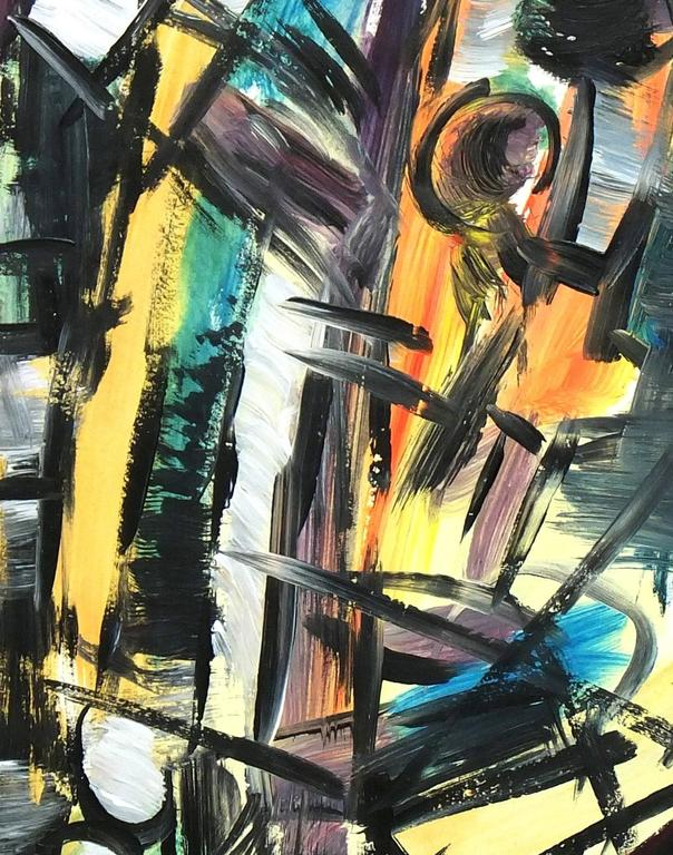 Abstract Painting - Summer Evening For Sale 1