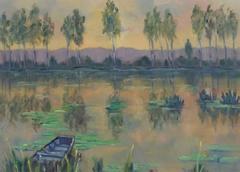 Vintage Oil Landscape - The Glades