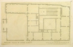 Antique Copper Engraving - Sacchetti Palace
